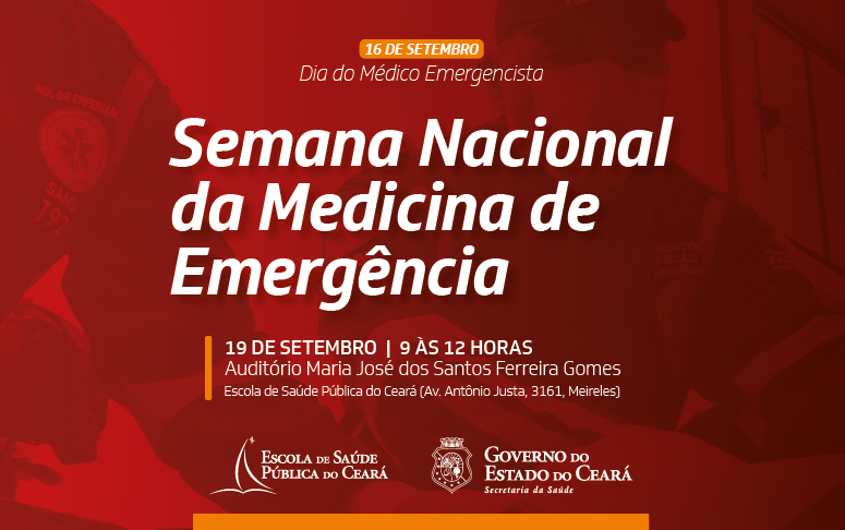 ESP/CE homenageia Médicos de Emergência em evento próximo dia 19
