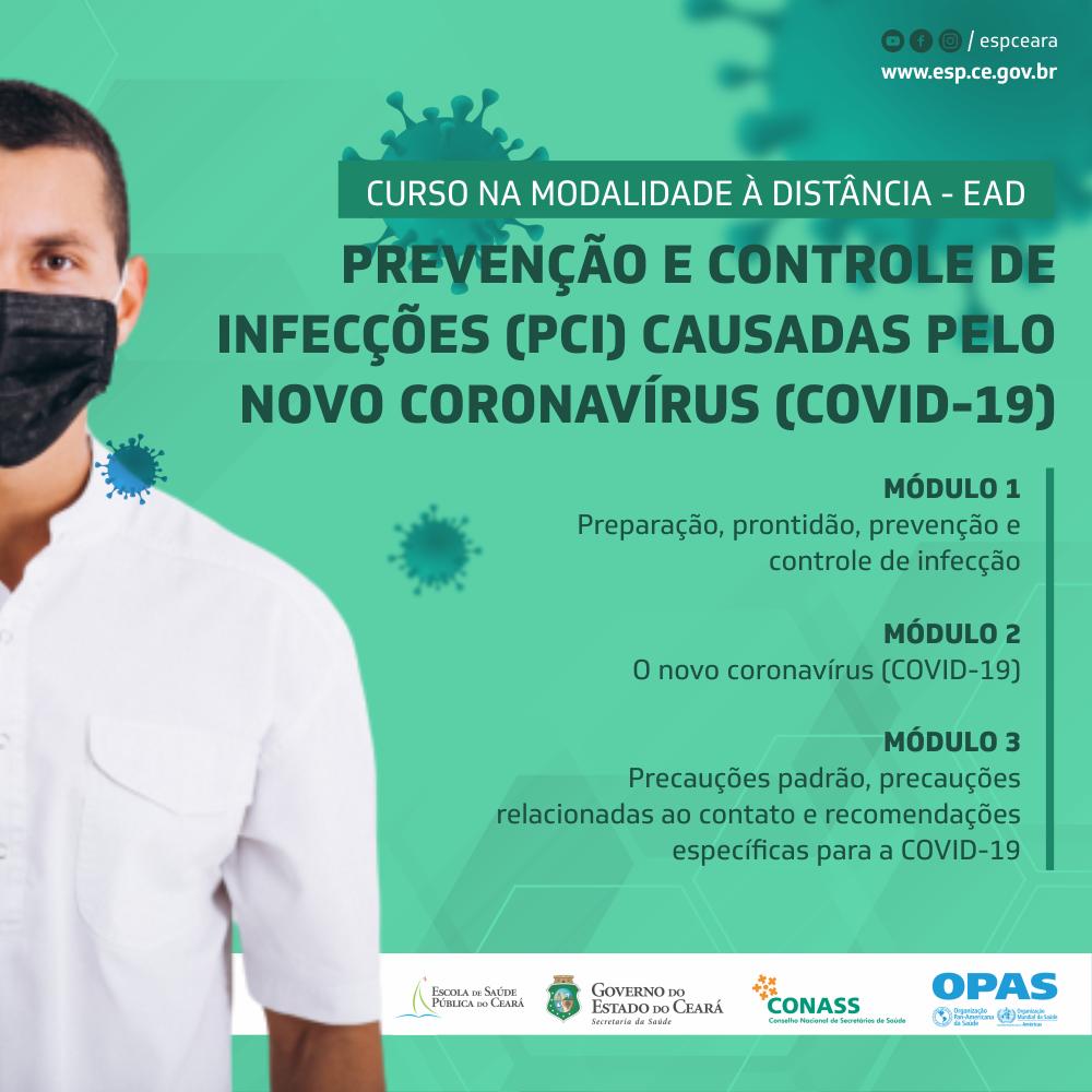 Abertas as inscrições para o curso sobre prevenção e controle de infecções, parceria da ESP/CE, OPAS, Conass e OMS