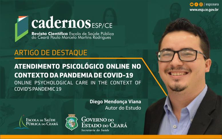 Pesquisa publicada na Cadernos ESP revela que atendimento psicológico online é eficaz durante pandemia