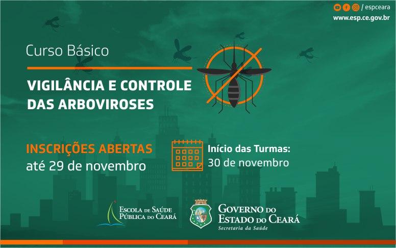 Inscrições para Curso Básico de Vigilância e Controle das Arboviroses seguem até 29/11