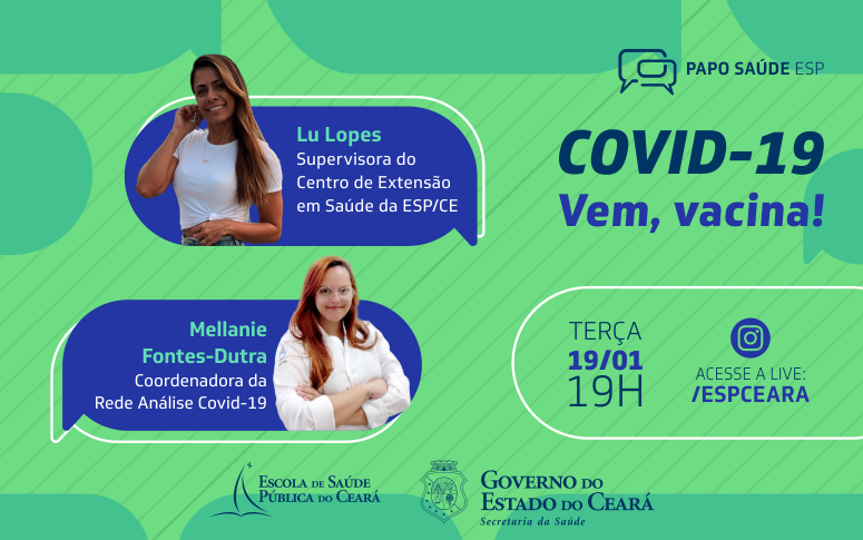 'Papo Saúde na ESP': transmissão ao vivo discute a imunização contra a Covid-19
