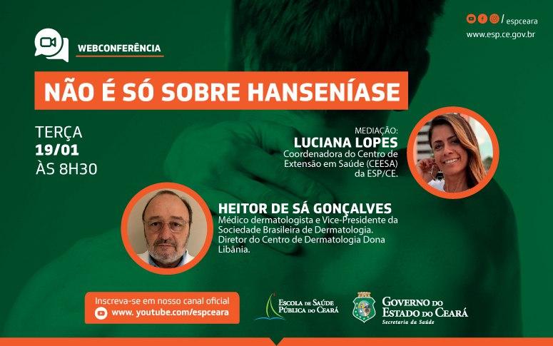 Webconferência debate doenças de pele nesta terça-feira, 19