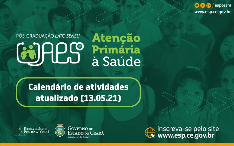 ESP/CE atualiza calendário de atividades para o curso de pós-graduação em Atenção Primária à Saúde